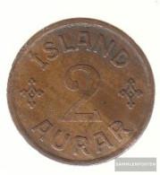 Iceland Km-number. : 6 1940 NGJ Extremely Fine Bronze Extremely Fine 1940 2 Aurar Gekröntes Monogram - Iceland
