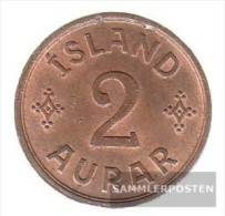 Iceland Km-number. : 6 1942 Extremely Fine Bronze Extremely Fine 1942 2 Aurar Gekröntes Monogram - Iceland