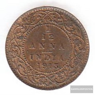 India Km-number. : 509 1920 Very Fine Bronze Very Fine 1920 1/12 Anna George V. - India
