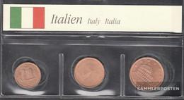 Italy I1 - 3 2002 Stgl./unzirkuliert Stgl./unzirkuliert 2002 Kursmünze 1, 2 And 5 Cent - Italy