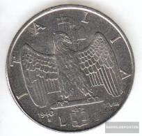 Italy Km-number. : 77 1942 Stgl./unzirkuliert Steel Stgl./unzirkuliert 1942 1 Lira Vittorio Emanuele III. - 1861-1946 : Kingdom