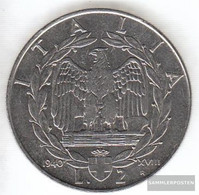 Italy Km-numBer. : 78 1939 B XVIII Extremely Fine Steel Extremely Fine 1939 2 Lire Vittorio Emanuele III. - 1861-1946 : Kingdom