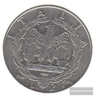 Italy Km-number. : 78 1940 A Extremely Fine StAhl Extremely Fine 1940 2 Lire Vittorio Emanuele III. - 1861-1946 : Kingdom