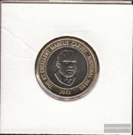Jamaica 182 2001 Stgl./unzirkuliert Bimetall Stgl./unzirkuliert 2001 20 Dollars Marcus Garvey - Jamaica