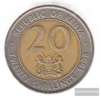 Kenya Km-number. : 32 1998 Very Fine Bimetall Very Fine 1998 20 Shillings Arap Moi - Kenya