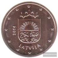 Latvia LET 2 2014 Stgl./unzirkuliert Stgl./unzirkuliert 2014 Kursmünze 2 Cent - Latvia
