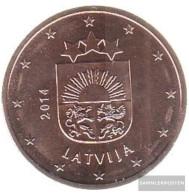 Latvia LET 3 2014 Stgl./unzirkuliert Stgl./unzirkuliert 2014 Kursmünze 5 Cent - Latvia