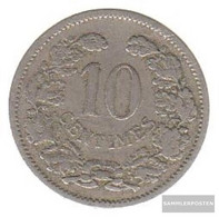 Luxembourg Km-number. : 25 1901 Very Fine Copper-Nickel Very Fine 1901 10 Centimes Adolphe - Luxembourg