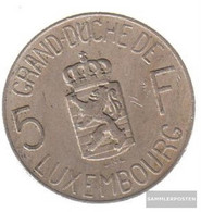 Luxembourg Km-number. : 51 1962 Extremely Fine Copper-Nickel Extremely Fine 1962 5 Francs Charlotte - Luxembourg