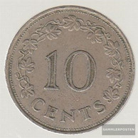 Malta Km-number. : 11 1972 Extremely Fine Copper-Nickel Extremely Fine 1972 10 Cent Barke - Malta