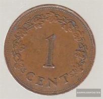Malta Km-number. : 8 1982 Very Fine Bronze Very Fine 1982 1 Cent Cross - Malta