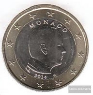 Monaco MON 7 2014 Stgl./unzirkuliert Stgl./unzirkuliert 2014 Kursmünze 1 Euro - Monaco