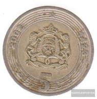 Morocco Km-number. : 109 2002 Very Fine Bimetall Very Fine 2002 5 Dirhams Crest - Morocco