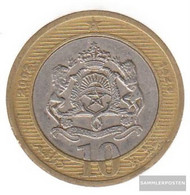 Morocco Km-number. : 110 2002 Very Fine Bimetall Very Fine 2002 10 Dirhams Crest - Morocco