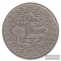 Morocco Km-number. : 36 1921 Very Fine Nickel Very Fine 1921 1 Franc Star - Morocco