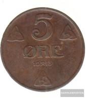 Norway Km-number. : 368 1922 Very Fine Bronze Very Fine 1922 5 Öre Gekröntes Monogram - Norway
