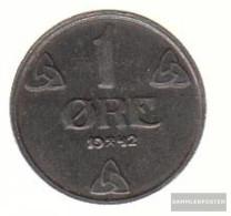 Norway Km-number. : 387 1943 Very Fine Iron Very Fine 1943 1 Öre Crest - Norway