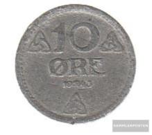 Norway Km-number. : 389 1943 Very Fine Zinc Very Fine 1943 10 Öre Crest - Norway