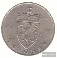 Norway Km-number. : 420 1977 Extremely Fine Copper-Nickel Extremely Fine 1977 5 Kroner Olav V. - Norway