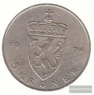 Norway Km-number. : 420 1979 Very Fine Copper-Nickel Very Fine 1979 5 Kroner Olav V. - Norway