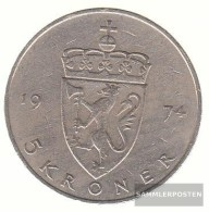 Norway Km-number. : 420 1983 Very Fine Copper-Nickel Very Fine 1983 5 Kroner Olav V. - Norway