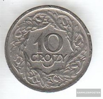 Poland Km-number. : 11 1923 Extremely Fine Nickel Extremely Fine 1923 10 Groszy Crowned Adler - Poland