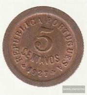 Portugal Km-number. : 572 1927 Very Fine Bronze Very Fine 1927 5 Centavos Liberty - Portugal