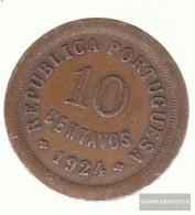 Portugal Km-number. : 573 1926 Very Fine Bronze Very Fine 1926 10 Centavos Liberty - Portugal