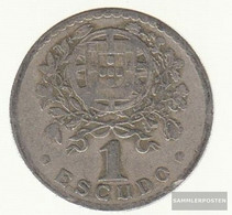 Portugal Km-number. : 578 1927 Very Fine Copper-Nickel Very Fine 1927 1 Escudo Liberty - Portugal