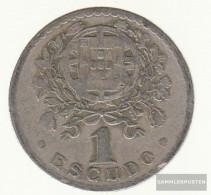 Portugal Km-number. : 578 1952 Very Fine Copper-Nickel Very Fine 1952 1 Escudo Liberty - Portugal