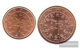 Portugal P1 - 2 2002 Stgl./unzirkuliert Stgl./unzirkuliert 2002 Kursmünze 1 And 2 Cent - Portugal