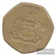 Samoa km-number. : 57 1984 very fine Aluminum-Bronze  1984 1 Tala Crest