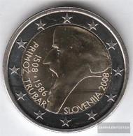 Slovenia 2008 Stgl./unzirkuliert Stgl./unzirkuliert 2008 2 Euro Primoz Trubar - Economie