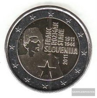 Slovenia 2011 Stgl./unzirkuliert Stgl./unzirkuliert 2011 2 Euro Franc Rozman - Economie