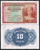 R 559. Billete 10 Pts Republica 1935. Nuevo Sin Uso. Plancha - [ 2] 1931-1936 : République