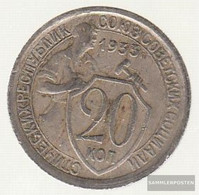 Soviet Union Km-number. : 97 1932 Extremely Fine Copper-Nickel Extremely Fine 1932 20 Kopeken Crest - Russia
