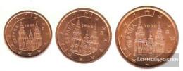 Spain E1 - 3 1999 Stgl./unzirkuliert Stgl./unzirkuliert 1999 Kursmünze 1, 2 And 5 Cent - Spain