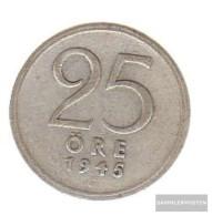 Sweden Km-number. : 816 1949 Very Fine Silver Very Fine 1949 25 Öre Crown - Sweden
