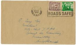 IRLANDA - IRLANDE - Ireland - EIRE - 1948 - 2 1/2 + 1/2 P + Special Cancel Make The Roads Safe - Viaggiata Per Switze... - 1937-1949 Éire