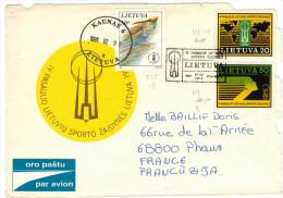 LITUANIA - Lituanie - Lietuva - Lithuania - 1996 - Air Mail - Fragment - 1991 IV Pasaulio Lietuviu Sporto Zaidynés Li... - Lithuania