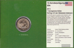 U.S. Km-number. : 551 2013 D Stgl./unzirkuliert Copper, Nickel-Me Plattiert Stgl./unzirkuliert 2013 1 US Dollars Sacagaw - Federal Issues