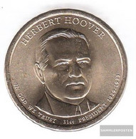 U.S. Km-number. : 573 2014 D Stgl./unzirkuliert Copper, Nickel-Me Plattiert Stgl./unzirkuliert 2014 1 US Dollars Herbert - Federal Issues
