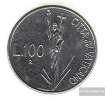 Vatikanstadt Km-number. : 231 1991 Stgl./unzirkuliert Steel Stgl./unzirkuliert 1991 100 Lire Christ - Vatican
