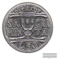 Vatikanstadt Km-number. : 246 1993 Stgl./unzirkuliert Steel Stgl./unzirkuliert 1993 50 Lire Chalice - Vatican