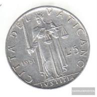 Vatikanstadt Km-number. : 51 1951 Very Fine Aluminum Very Fine 1951 5 Lire Justicia - Vatican