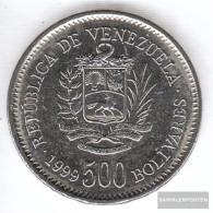 Venezuela Km-number. : 79 1999 Extremely Fine Steel, Nickel Plattiert Extremely Fine 1999 500 Bolivares Crest - Venezuela