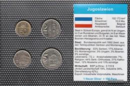Yugoslavia Stgl./unzirkuliert Kursmünzen Stgl./unzirkuliert 2000-2002 50 Para Until 5 Dinara - Yugoslavia