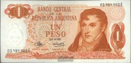 Argentina Pick-number: 287 Uncirculated 1970 1 Pesos - Argentina