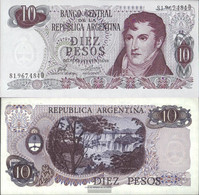 Argentina Pick-number: 295 Uncirculated 1973 10 Pesos - Argentina