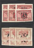 Arnstadt Notgeld: 43.1 6 Notgeldscheine The City Arnstadt Uncirculated 1921 6x10 Pfennig (whole Theorem) - [11] Local Banknote Issues